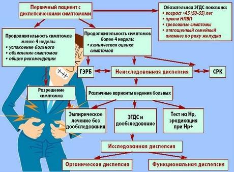 Диспепсия желудка: что это такое, причины, виды, симптомы, лечение, диета