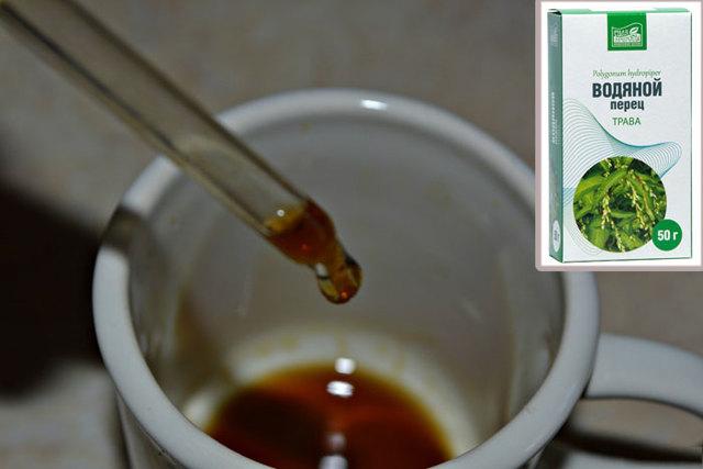 Экстракт водяного перца для сокращения матки