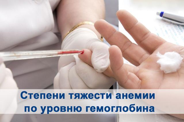 Степени анемии: легкая и тяжелая, 1, 2, 3, классификация по гемоглобину
